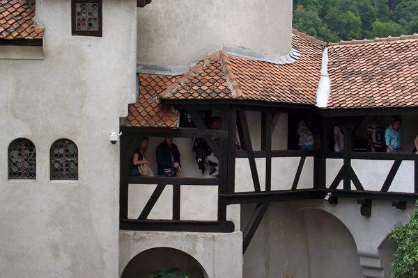 inner coutryard of Bran Castle in Transylvania
