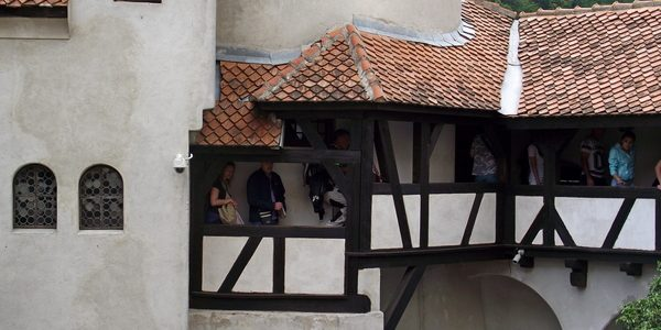 inner coutryard of Bran Castle in Transylvania