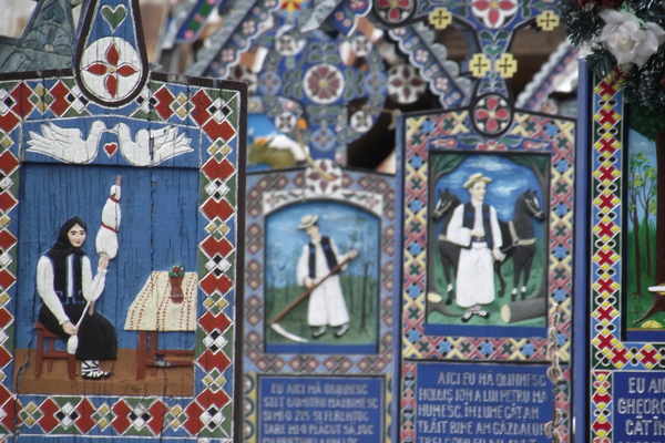 detail of Merry Cemetery from Sapanta Maramures