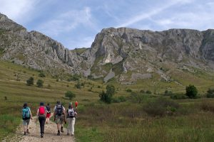 approaching the Szekler Rock from Rimetea vilage, Apuseni Mountains
