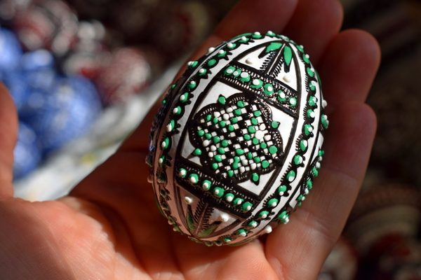 hand painted easter egg from Bucovina