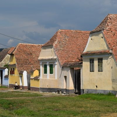 Saxon colorful houses in Viscri village