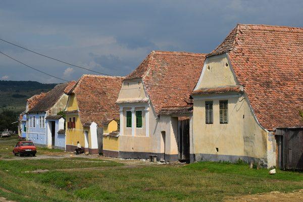 Saxon colorful houses in Viscri village