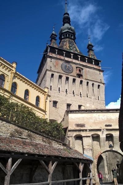 UNESCO medieval Sighisoara, Clock Tower view