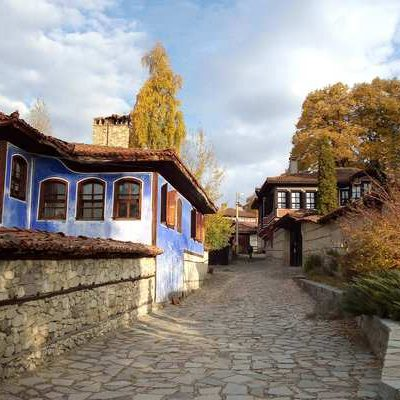 blue old house in Bulgaria