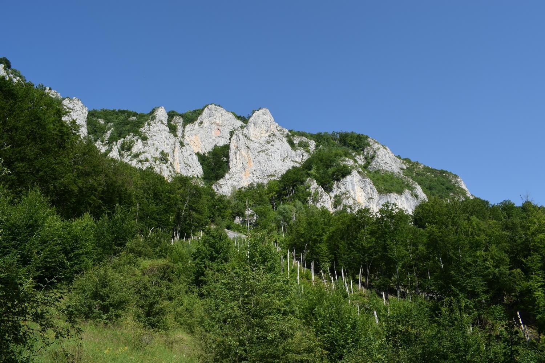 Trascau view in Apuseni Mountains